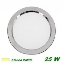 Downlight Led 25w empotrar plata luz blanco calido 3200K Cifralux 102320CP