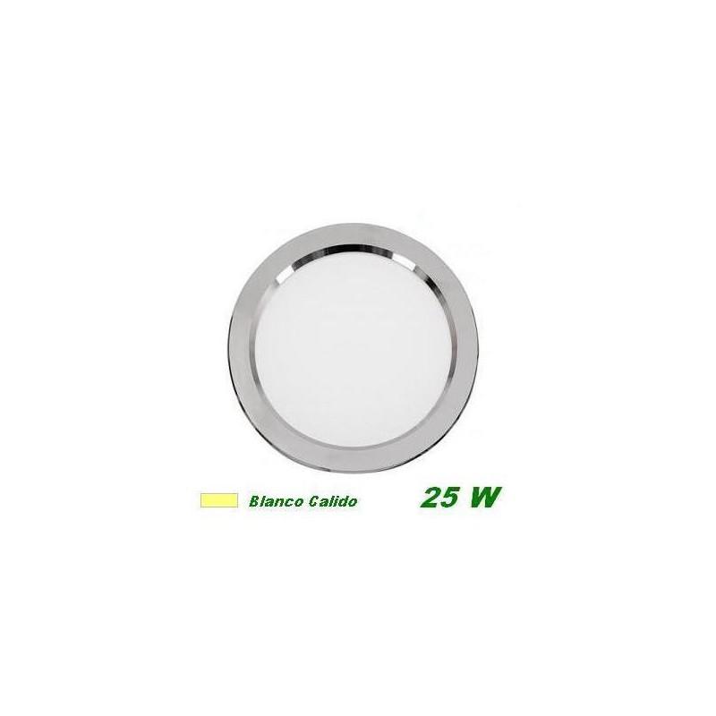Downlight Led 25w empotrar plata luz blanco calido 3200K Cifralux 102320CP