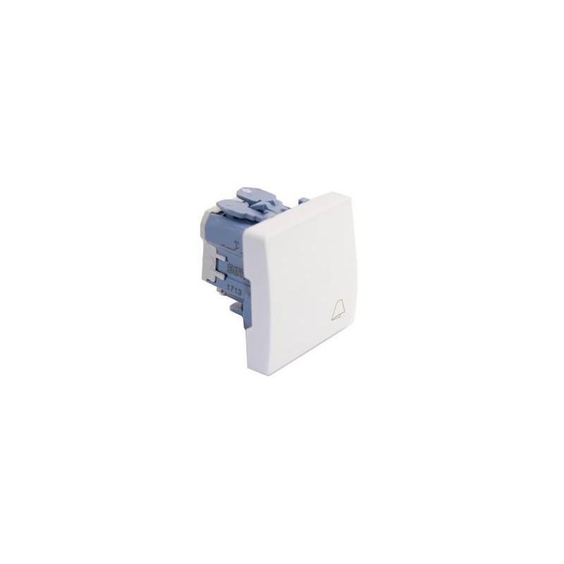 Pulsador timbre simbolo campana ancho blanco Simon 27150-65