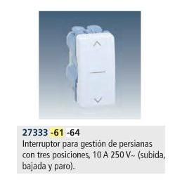 INTERRUPTOR PERSIANA 3 POSICIONES ESTRECHO BLANCO SIMON 27333-64