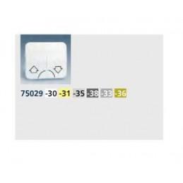 Tecla grupo 2 pulsadores persiana ancha blanca Serie 75 Simon 75029-30