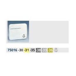 Tecla pulsador luz simbolo luz con visor ancha aluminio mate Serie 75 Simon 75016-33
