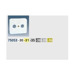 Tapa toma R-TV SAT ancha aluminio mate Serie 75 Simon 75097-33