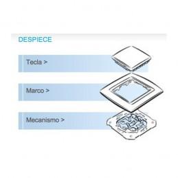 Tecla pulsador timbre simbolo campana con visor ancha grafito Serie 82 Simon 82015-38