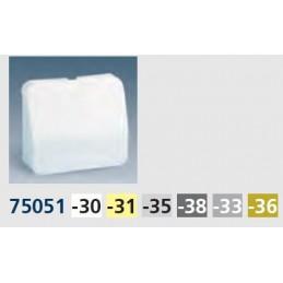 Tecla salida de hilos ancha aluminio mate Serie 75 Simon 75051-33