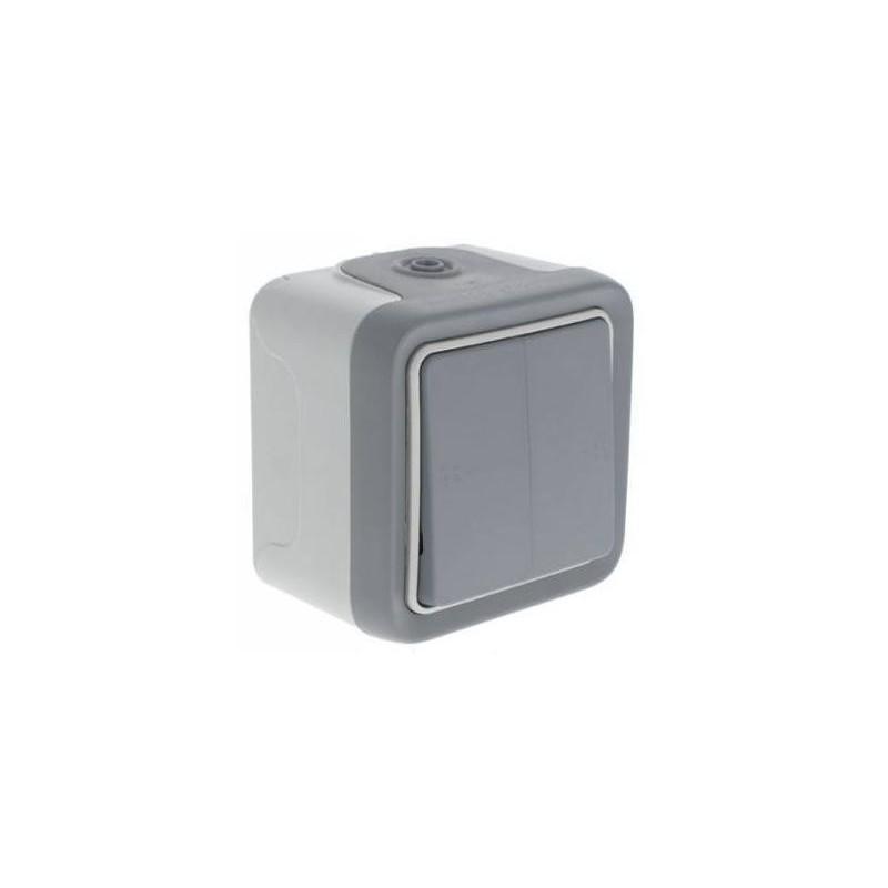 Doble conmutador estanco IP55 Plexo Legrand 69715