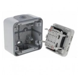 Doble conmutador estanco IP55 Plexo Legrand 69715