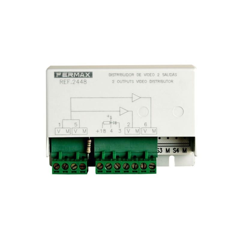 Distribuidor de video 2 salidas Fermax 2448 para videoporteros fermax