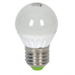 Bombilla led esferica 5.5w 230v e27 450lum luz blanco calido 3000k Ilogo