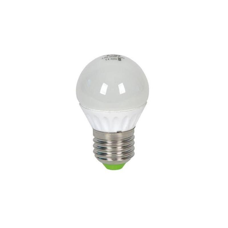 Bombilla led esferica 5.5w 230v e27 450lum luz blanco neutro 4200k Ilogo