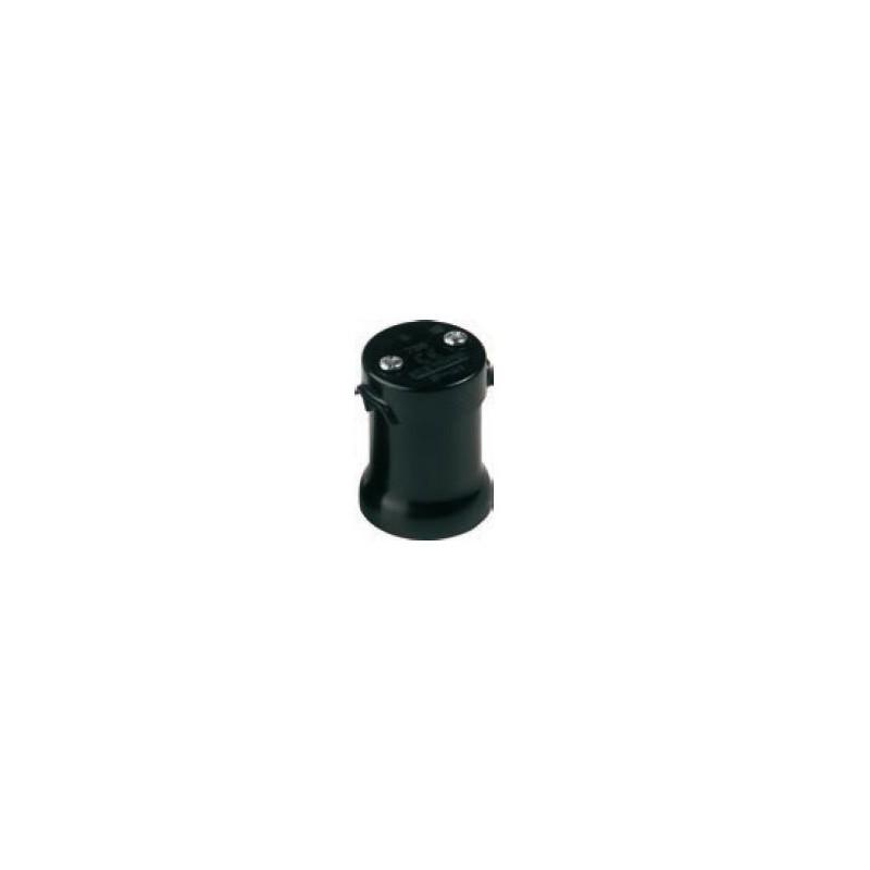 Portalamparas feria E27 250V negro para guirnalda Fenoplastica 726