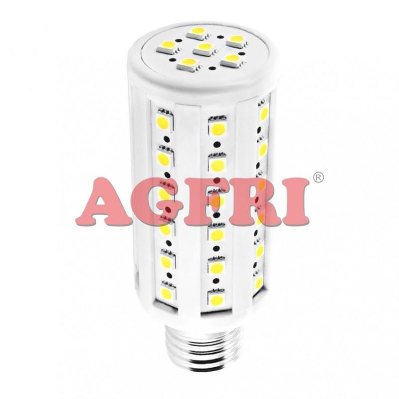 Bombilla led panocha 7w 230v e27 650lum luz blanco calido 2800-3200k Agfri 4073