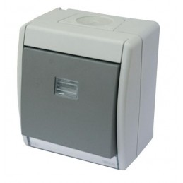 Caja estanca Simon 44 Aqua con tecla simple IP55 para mecanismos Simon 27