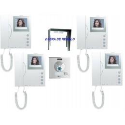 Kit Videoportero Color 1 Linea City VDS 4 monitores Fermax