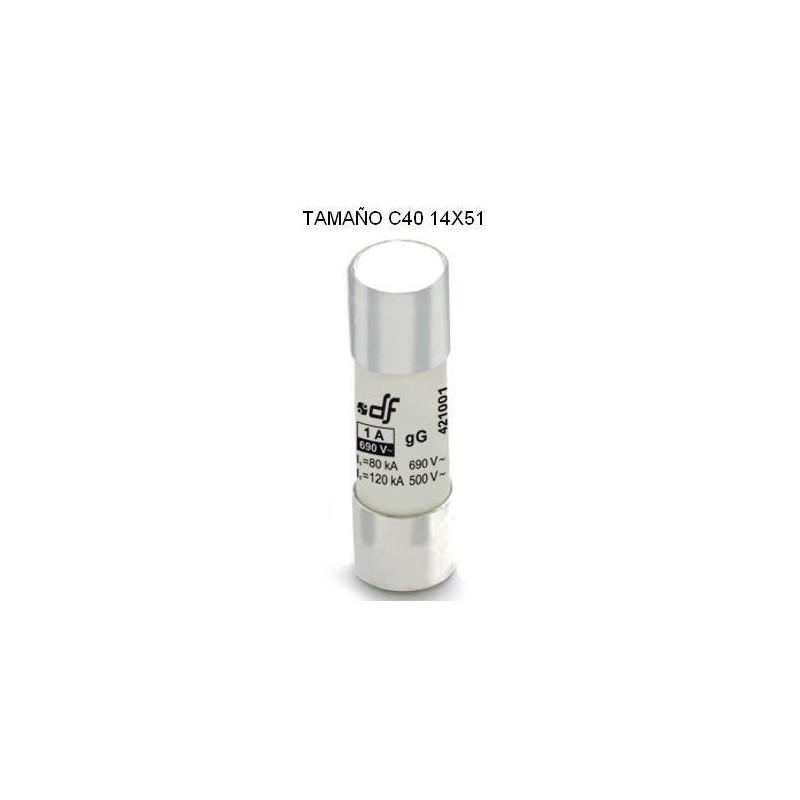 Fusible C40 14x51 40Amp cilindrico ceramico