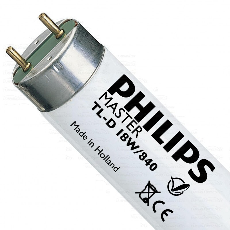 25 Tubos fluorescentes 18w 840 Blanco Neutro Master TL-D Philips 63171840