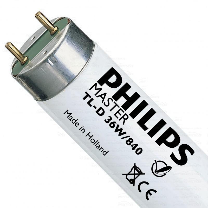 Tubo fluorescente 36w 840 Blanco Neutro Master TL-D Philips 63201240 25 Unidades