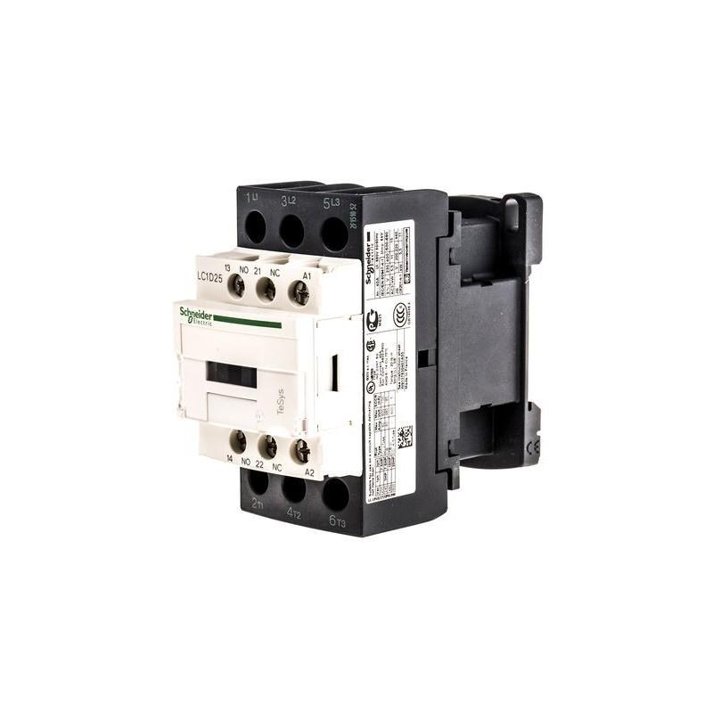 Contactor riel 3 polos 25 Amp 1NA 1NC 24V Telemecanique LC1D25B7