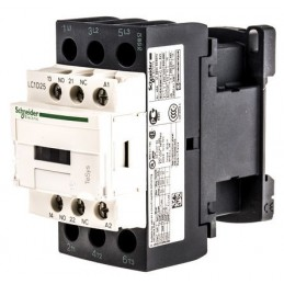 Contactor riel 3 polos 25 Amp 1NA 1NC 400V Telemecanique LC1D25V7