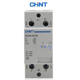 Contactor riel 2NA 40AMP Bobina 230/240V Chint NCH8-40/20