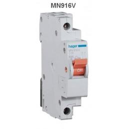 Magnetotermico estrecho 1P+N 16A Curva C 6KA Hager MN916V