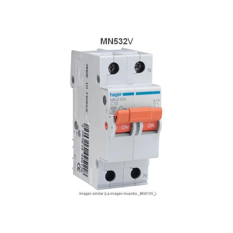 Magnetotermico 1P+N 32A Curva C 6KA Hager MN532V