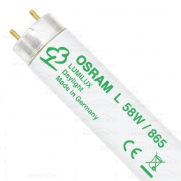 25 Tubos fluorescentes 58w 865 Luz Blanco Frio Lumilux Osram 517933