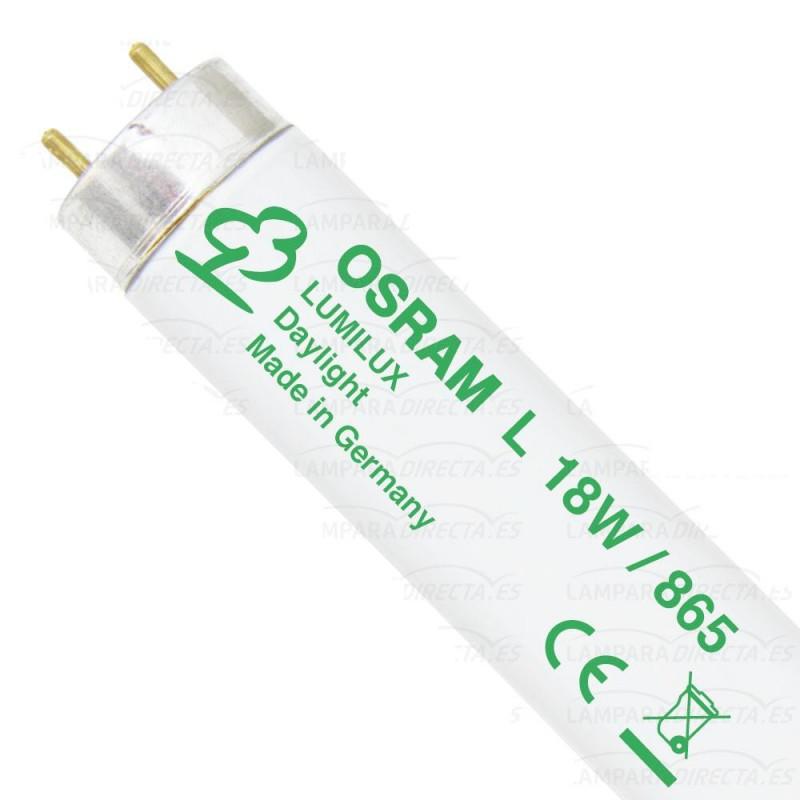 25 Tubos fluorescentes 18w 865 Lumilux Luz día Osram 517773