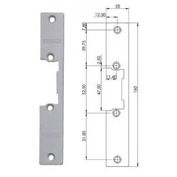 Armadura corta para cerradura electrica para puertas de paso