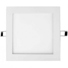 Downlight Led Cuadrado 25w Plata Luz Blanco Calido 2900-3100K Agfri 3326