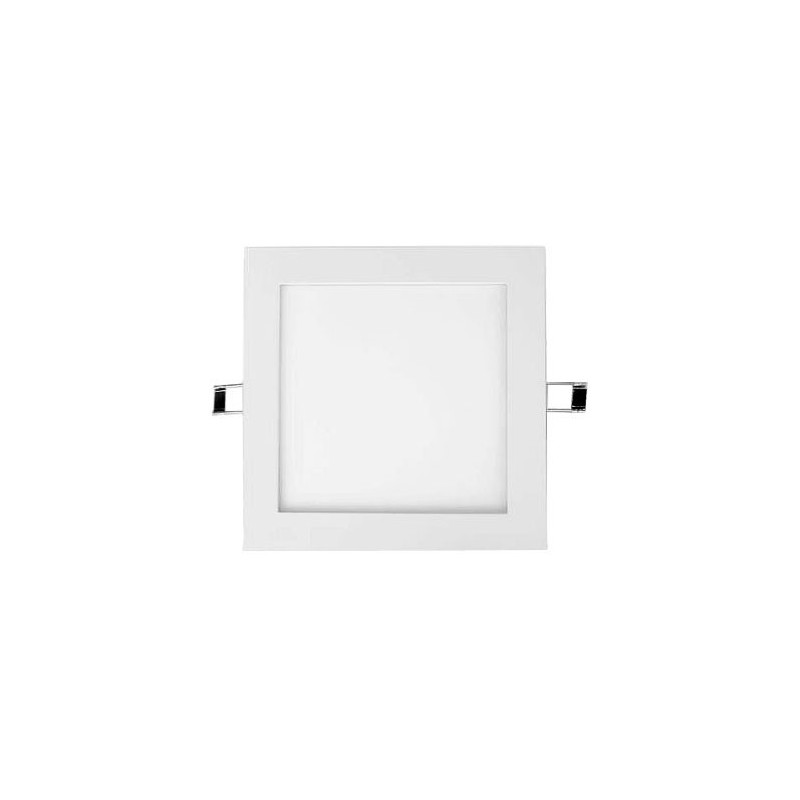 Downlight Led Cuadrado 25w Aro Plata Luz Blanco Calido 2900-3100ºK Agfri 3326