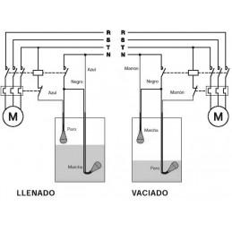 Interruptor de nivel aguas fecales AKO 53124 con 10 metros de cable