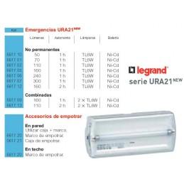 Marco para empotrar luces de emergencia Legrand Ura21 y Ura21Led