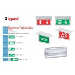 Etiqueta adhesiva SALIDA EMERGENCIA Legrand 060971