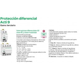 Interruptor Diferencial 4P 63Amp 300mA Schneider Electric A9R84463