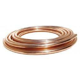 "15 Mts Tubo de cobre 3/8"" 9,52mm para aire acondicionado"
