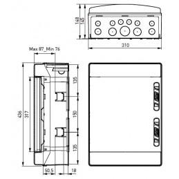 Caja automaticos superficie estanca 24 elementos Ide CDN24PT