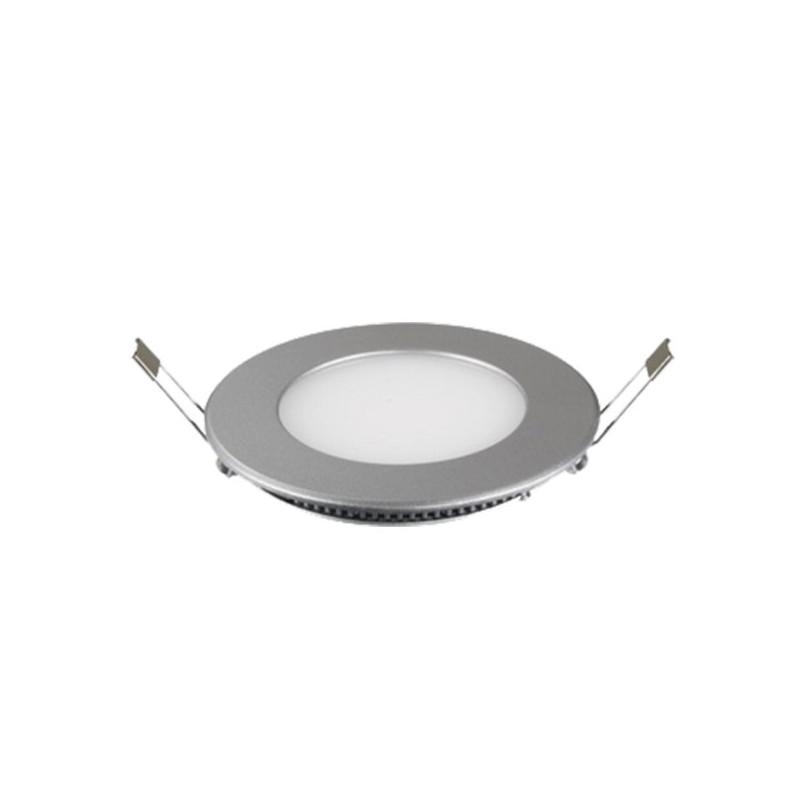Downlight Led Redondo 4W Aro Plata Luz Blanco Frio 5700-6200ºK Bdt-Led DW80414