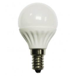 Bombilla led esferica 5w 230v e14 550lum luz blanco calido 2900-3100k Agfri 6056