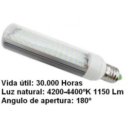 Bombilla led pl E27 7w 230v 180 Grados blanco neutro 4200-4400k 1150lm Bdt-Led PL7005