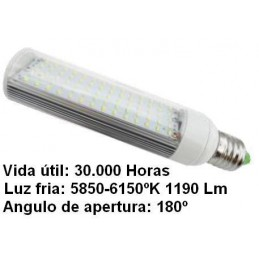 Bombilla led pl E27 7w 230v 180 Grados blanco frio 5850-6150k 1190lm Bdt-Led PL7004
