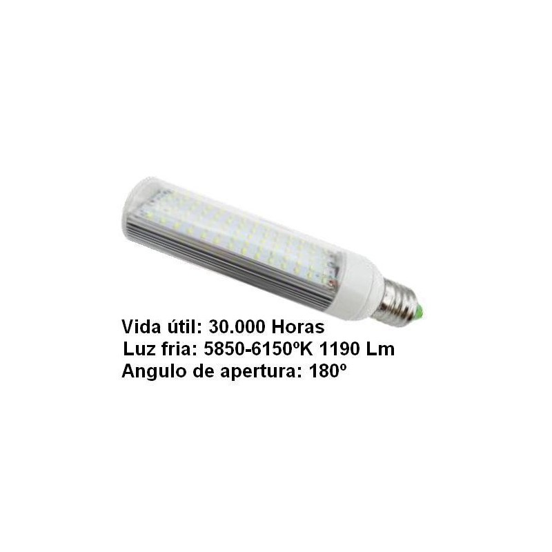 Bombilla led pl E27 7w 230v 180º blanco frio 5850-6150ºk 1190lm Bdt-Led PL7004