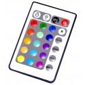 Controlador RGB para tiras LEDS RGB con mando IR Agfri 15401