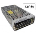 Fuente alimentacion 12V DC 5A 60W Agfri 16051 para tiras led