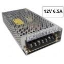 Fuente alimentacion 12V DC 6.5A 80W Agfri 16061 para tiras led