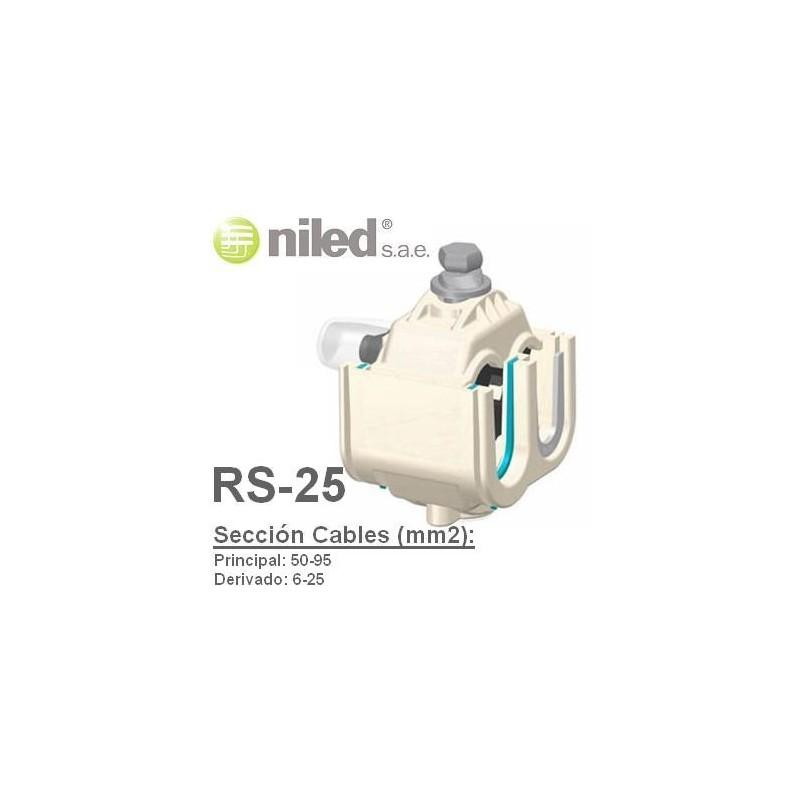 Conector RS-25 bimetalico aluminio cobre IP68 50-95mm2 6-25mm2 Niled