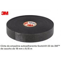 Cinta de empalme autoadherente Scoth23 3M de caucho de 19mmx9.15m