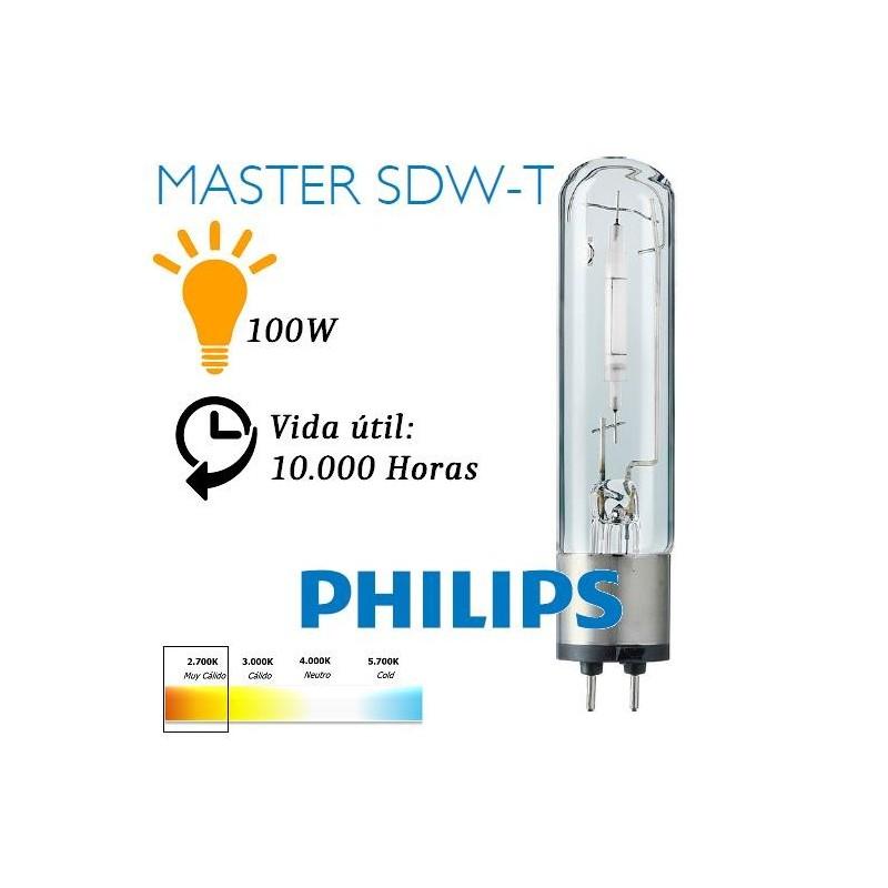 Bombilla Sodio Blanco Satina 100W/825 Master SDW-T PG12-1 Philips 73404415