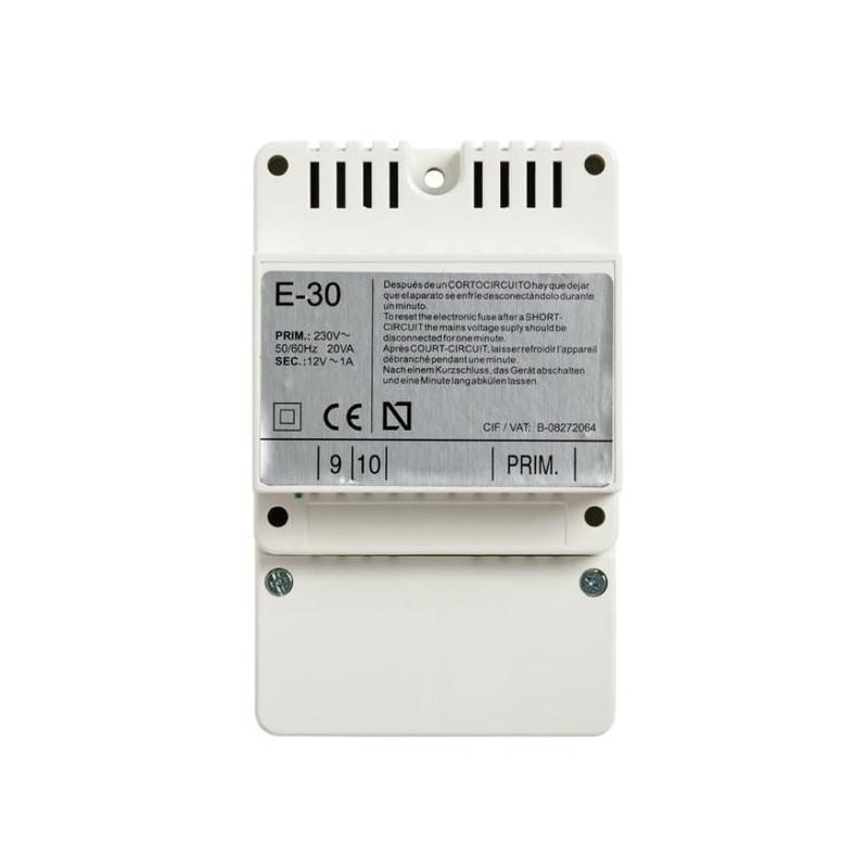 Alimentador DIN4 230-12Vac 1A E30 Tegui 375004