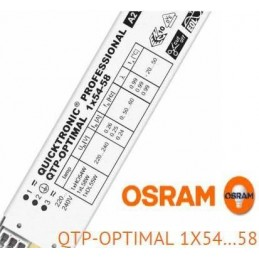 Balasto fluorescente 1x54-58w QTP-Optimal electronico Osram Quicktronic Professional